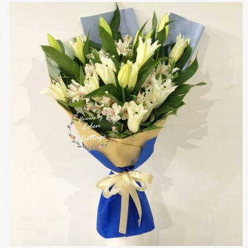 Lily White Bouquet HBL16
