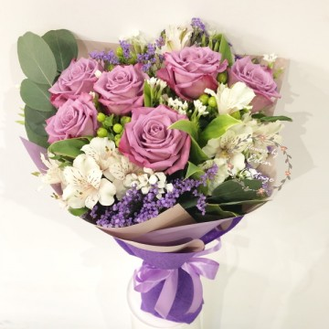 Roses Purple Premium Bouquet HBR11
