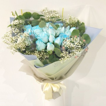 Roses Blue Bouquet HBR17