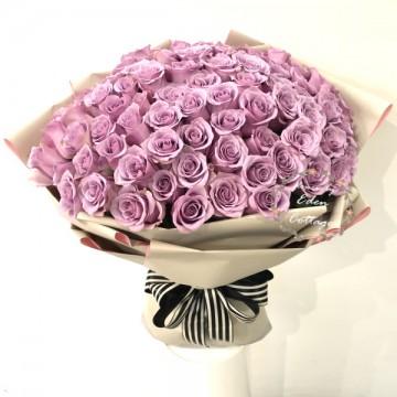 Roses 99 Purple Bouquet HBR22