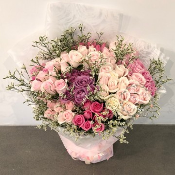 Roses 99 Shades of Pink Bouquet HBR24