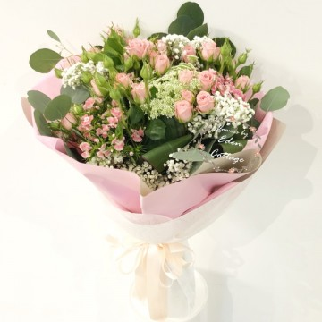 Roses Baby Pink Bouquet HBR27