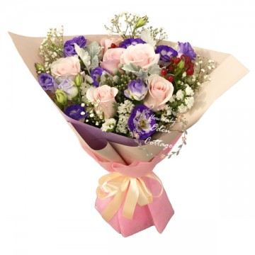 Roses Pink Bouquet HBR3