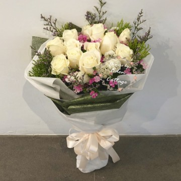 Roses Ivory White Bouquet HBR6