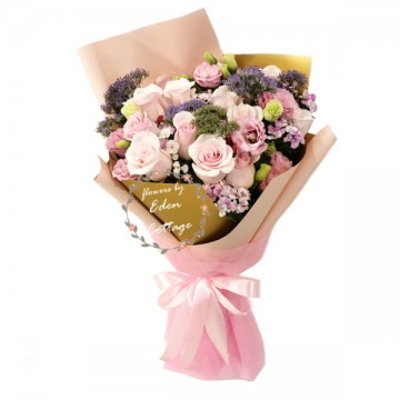 Roses Pink Bouquet HBR7
