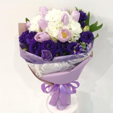 Tulips Purple Bouquet HBT10