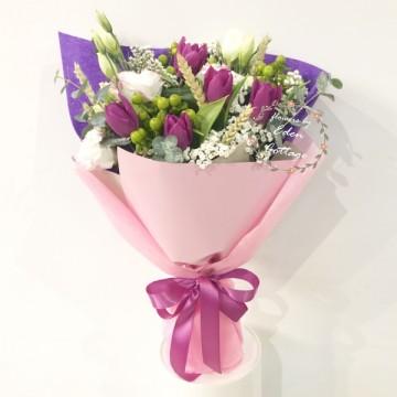 Tulips Purple Bouquet HBT2
