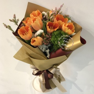 Tulips Orange Bouquet HBT5