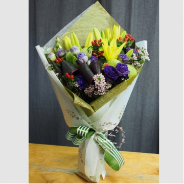 Lily Yellow Bouquet LHB9