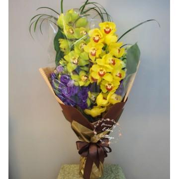 Orchid Cymbidium Bouquet OHB9