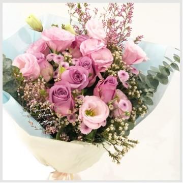 Roses Purple Bouquet RHB11