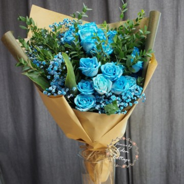 Roses Blue Bouquet RHB25