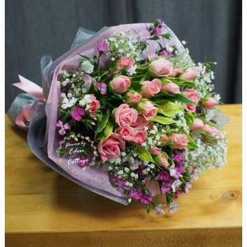 Roses Baby Pink Bouquet RHB27