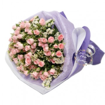 Roses Baby Pink Bouquet RHB28