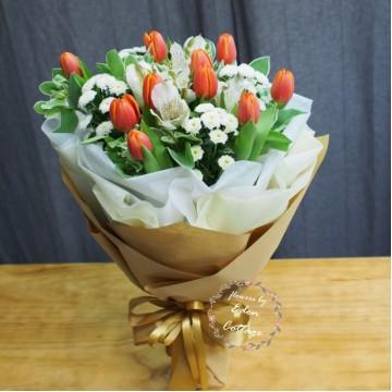 Tulip Orange Bouquet THB6