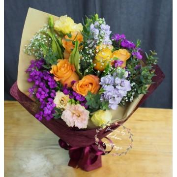 Unique Mix Flowers Bouquet UHB5