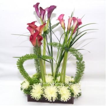 Calla Lily Floral Arrangement CE10