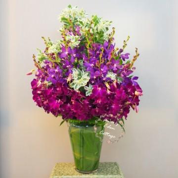 Orchids Vase Arrangement OFA3