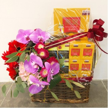 Wellness Tonics Basket & Flowers TNF10