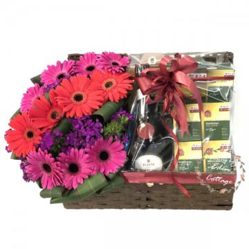 Health Tonics Basket & Flowers TNF11