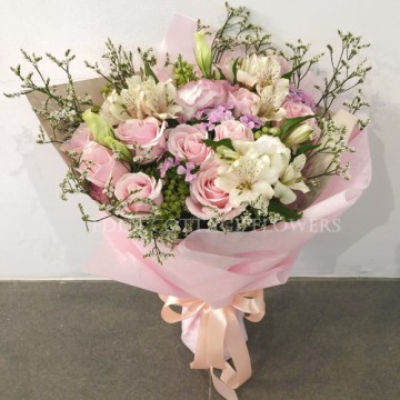 Pink Roses Bouquet VV3