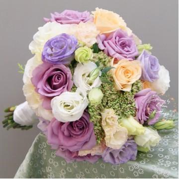 Rose and Eustoma premium bridal bouquet