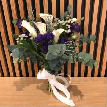 Calla Lily and Eustoma Premium Bridal Bouquet
