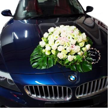 Classy Bridal Car Decorations