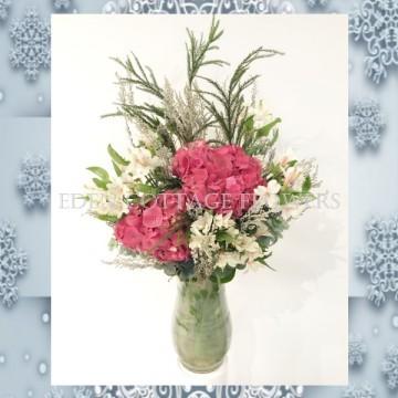 Christmas Hydrangea Floral Arrangement XMF8